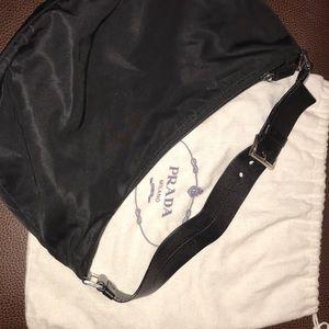 Black Nylon Prada Bag & dust bag!